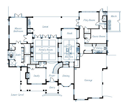 floor plan of custom home - Custom Home Design